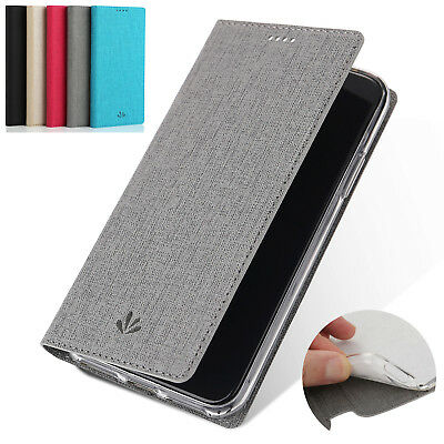 For Nokia 6 8 Sirocco 7 Plus 5.1 6.1 Flip Canvas Leather Wallet Card Cover Case