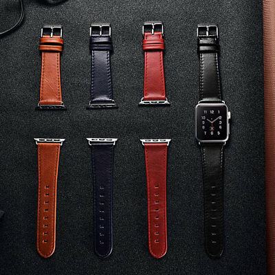 Genuine Leather Strap Band Apple Watch Series 3 2 1 Wristband New 42mm 38mm