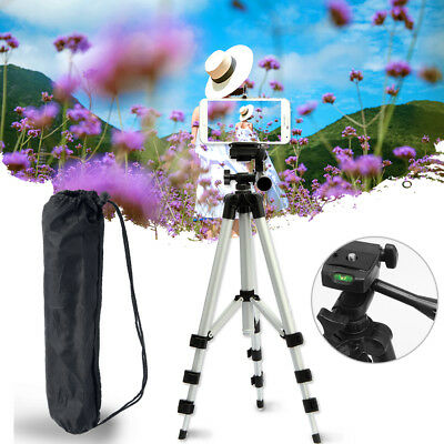 Universal Camera Tripod Stand Holder Mount for iPhone Samsung Cell Phone+Bag US