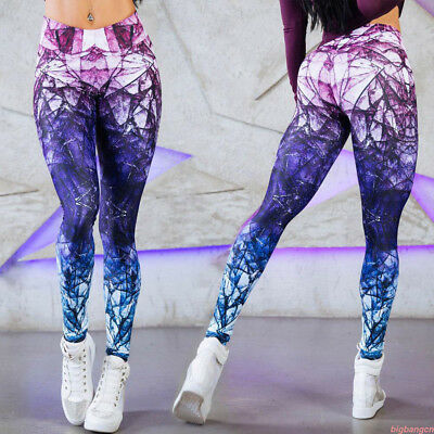 Sport Womens Compression Fitness Leggings Running Yoga Gym Pants Workout LOT BD