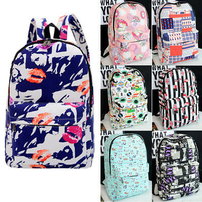 Fashion Women Girls Travel Canvas Rucksack Backpack School Shoulder Bag New