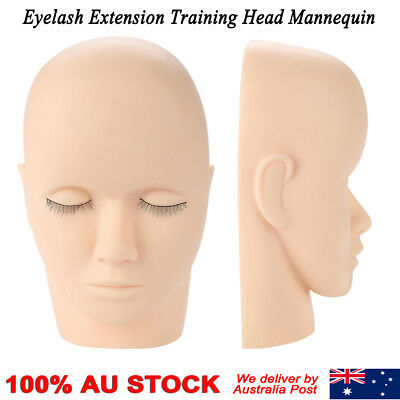 Mannequin Flat Head Practice Make Up Massage Training Model Eyelash Extension