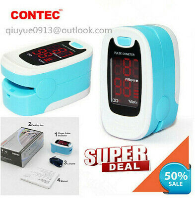 FDA Finger Tip Pulse Oximeter Blood Oxygen meter SpO2 CONTEC Heart Rate Monitor