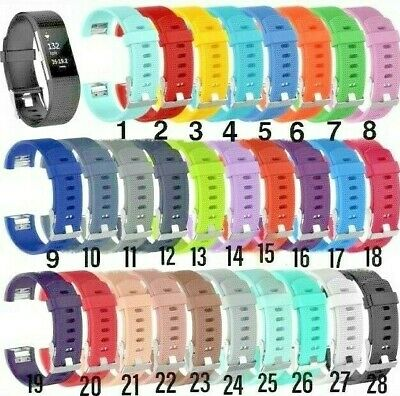 Soft Silicone Replacement Spare Band Strap for Fitbit Charge 2 SML&LGE UK STOCK