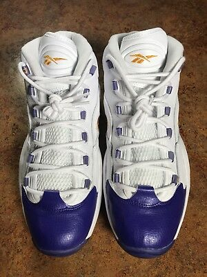 e61289755dd REEBOK QUESTION MID Packer Shoes For Player Use Only Kobe (Us 12 ...