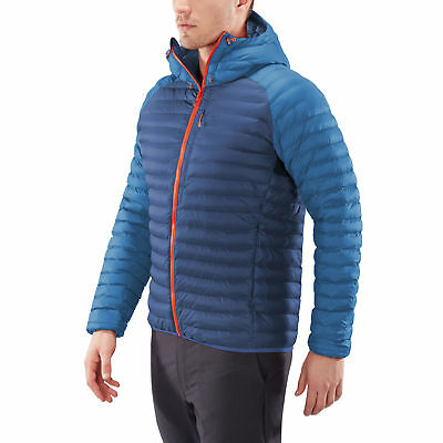 Haglofs Mens Essens Mimic Hooded Jacket Top Blue Sports Outdoors Breathable