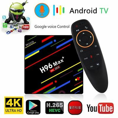 H96 MAX+ Smart TV Box Android 8.1 RK3328 4G 32G USB3.0 Wifi H.265 Voice control