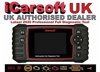 iCarsoft LR V2.0 Land Rover Jaguar Airbag Abs Engine DPF Diagnostic Tool GENUINE