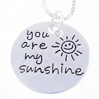 you are my sunshine Silver Plated Pendant Necklace Gift For Lover Cute Girl AU