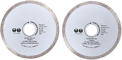 "2pc 115mm 4.5"" Fast Accurate Wet Tile Cutting Diamond Continuous Rim Blade Discs"