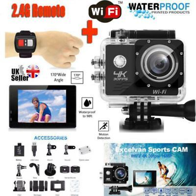 Ultra HD 1080P Action Camera Wifi Video Waterproof + 30PCS Accessories as Gopro