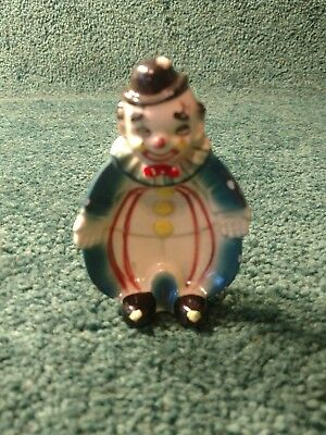 """Vintage 3.75"""" Colorful Made in Japan Clown Wall Pocket"""