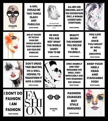 Coco Chanel Quote Fashion Art Minimalist Inspirational Poster Print BUY1GET2FREE