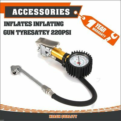 Tire Air Inflator Tyre Pressure Meter Car Truck Pump Gauge Compressor Kit
