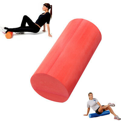 Gym Exercise Fitness Grid Floating Point Yoga Foam Roller Massage Pilates Red