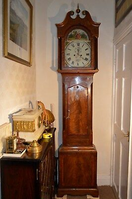 VICTORIAN MAHOGANY 8 DAY GRANDFATHER CLOCK by J VASSALLI SCARBOROUGH