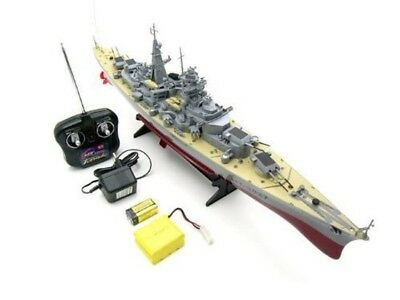 Remote Control Battle Ship Battery Bismarck Boat German Military Operated RC War