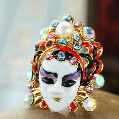 National Wind Beijing Opera Face Ring Changing Opera Figure Ring Jewelry 6A