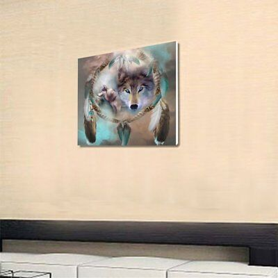 Wind Chime Wolf Embroidery DIY Needlework Diamond Plated Home 5D PaintingÇ