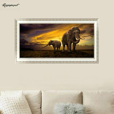 5D Diamond Painting Elephant Dawn Embroidery Perfect For Home Wall DecorationÇ