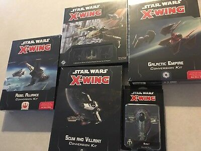2.0 Conversion Component Single Star Wars X-Wing Miniatures Game Cards Systems