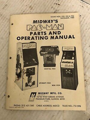 Bally / Midway - PAC MAN - Parts and Operation Manual