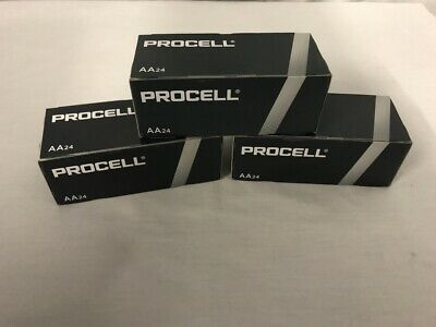 Duracell Procell PC1500 Alkaline AA Batteries 72 Batteries 3 Boxes of 24