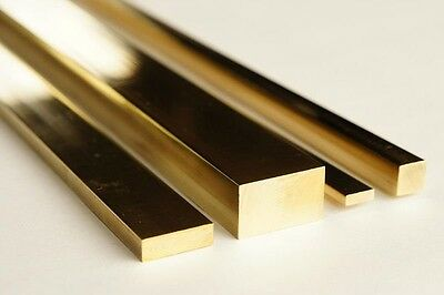 CHEAPEST - Brass Flat Bar all sizes & Lengths upto 1300mm long