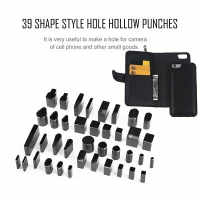 39 Shape Hole Hollow Cutter Punch Metal Leather Craft DIY Tool Phone HolsterÇ