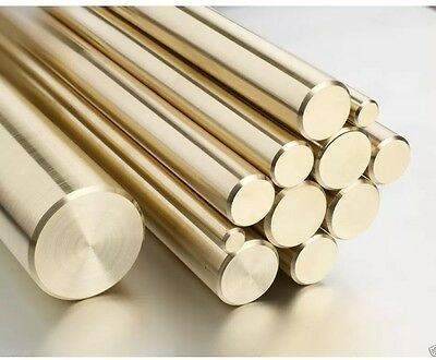 5mm Brass Round Bar Rod CZ121 - 300mm long