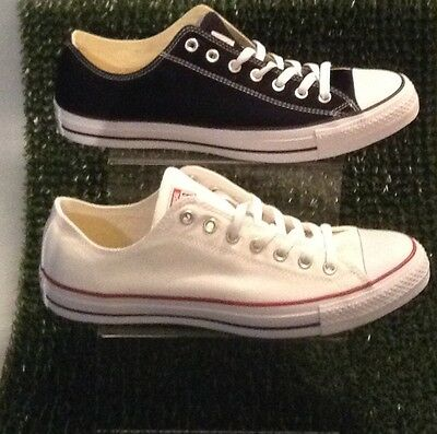Converse All Star Ox Lo - White And Black Mens Sizes Uk 13 - Brand New