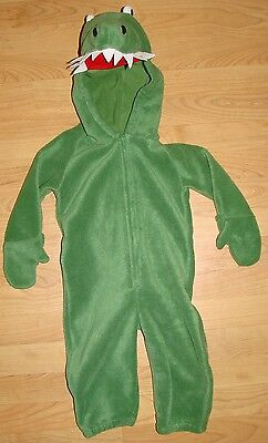 Old Navy Outlet Alligator Crocodile Toddler Fleece Halloween Costume 18-24 mo.