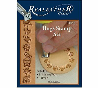 Realeather Crafts Leathercraft Bugs Leather Stamp Set T4915 8 Stamps