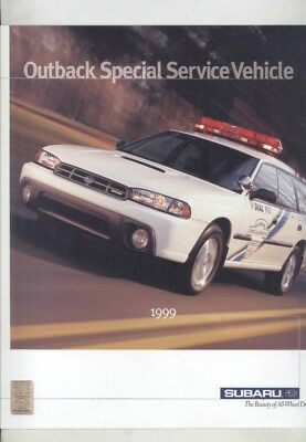 1999 Subaru US Outback Fire Rescue Emergency Service Vehicle Brochure wz6515