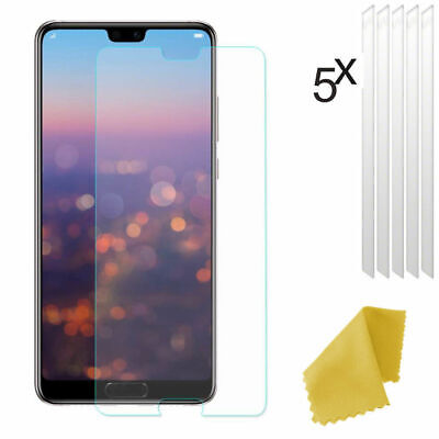 5 X Clear Plastic Screen Guard LCD Protector Film For Huawei P20 Pro