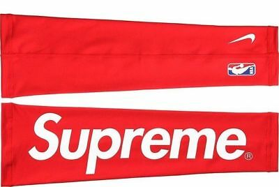 Supreme 2 Arm Shooting Sleeve Black and Red S/M L/XL Free Sticker & Shipping USA
