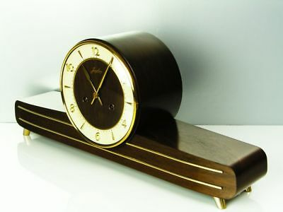 Beautiful Later Art Deco Chiming Mantel Clock From Junghans With Balance Wheel