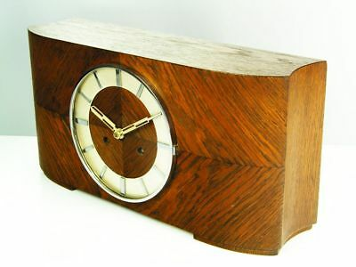 Pure Art Deco Chiming Mantel Clock From Kienzle Superia