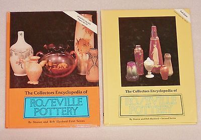 The Collectors Encyclopedia of Roseville Pottery Huxford 2 HB Books Lot
