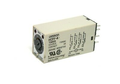 H3Y-4 Omron Timer 110 VAC 0-1.0 Sec Contact 3A 250V AC Resistive New Other as is
