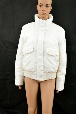 Peuterey Goose Down Cream Auth. Jacket Coat IT46 Uk14 Large Ladies L Warm