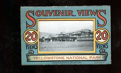T380 Teich Souvenir Miniature Postcards 20 views Yellowstone Park Wyoming WY