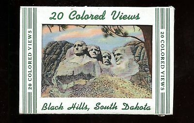 T397 Teich Souvenir Miniature Postcards 20 views Black Hills South Dakota SD