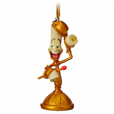 Disney Store 2018 Boxed Lumiere Light-Up Sketchbook Beauty Beast Ornament NEW