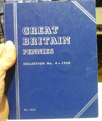 Whitman Coin Book 9684 Great Britain Pennies No. 4 with 18 G.B. Pennies.