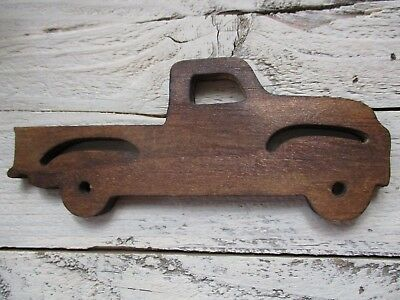 Primitive old time TRUCK wood cut-out vintage antique 4 sign ornament crafts