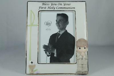 Precious Moments-'Boy' Frame-Bless You On Your 1st Communion #104412 New In Box