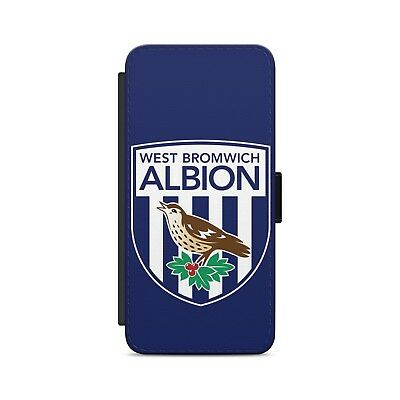West Bromwich Albion FC Leather Flip Wallet Phone Case Cover For iPhone Samsung