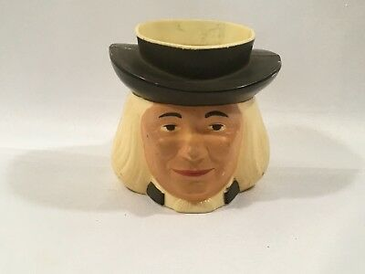 Vintage Quaker Oats Cereal Head Mug Cup Plastic F & F Mold and Die Dayton OH