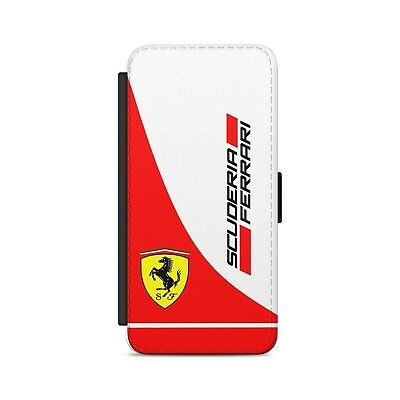 F1 Scuderia Ferrari Leather Flip Wallet Phone Case Cover For iPhone Samsung 608fc9133f66